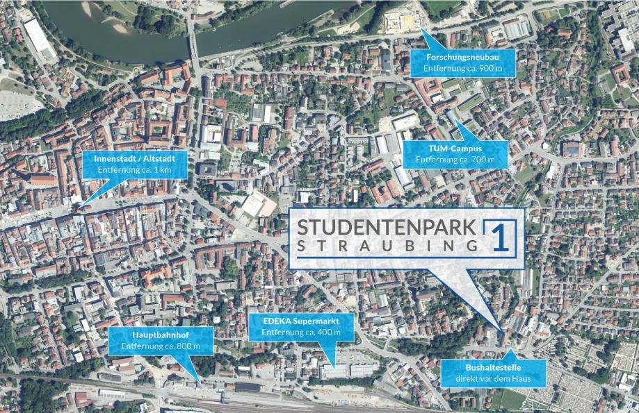 Lage Studentenpark Straubing